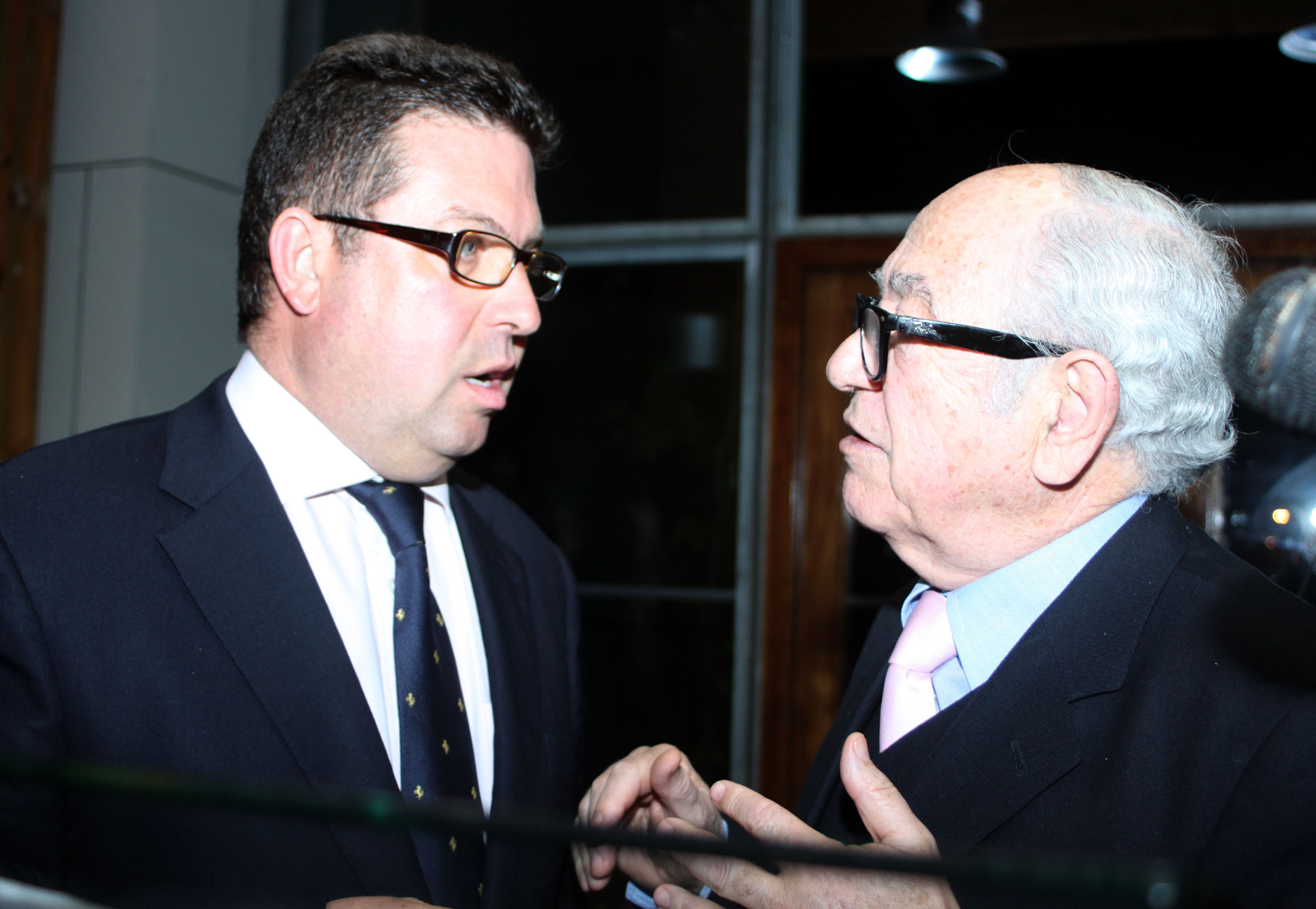 Ángel Morenilla (i) junto al presidente del RCR Cartagena, Miguel Ánlgel Celdrán © Pep Portas
