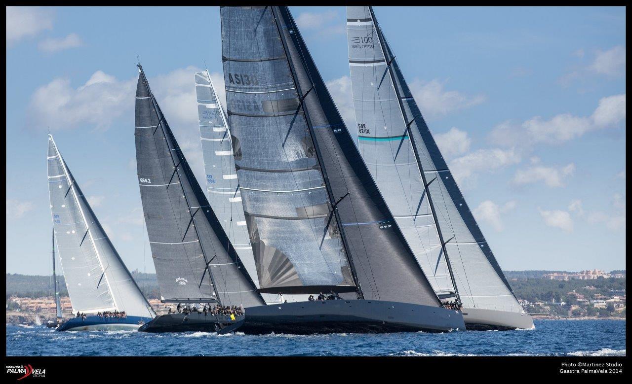 Los impresionantes Wally navegando en la bahía de Palma durante la pasada edición © MartínezStudio/Gaastra PalmaVela