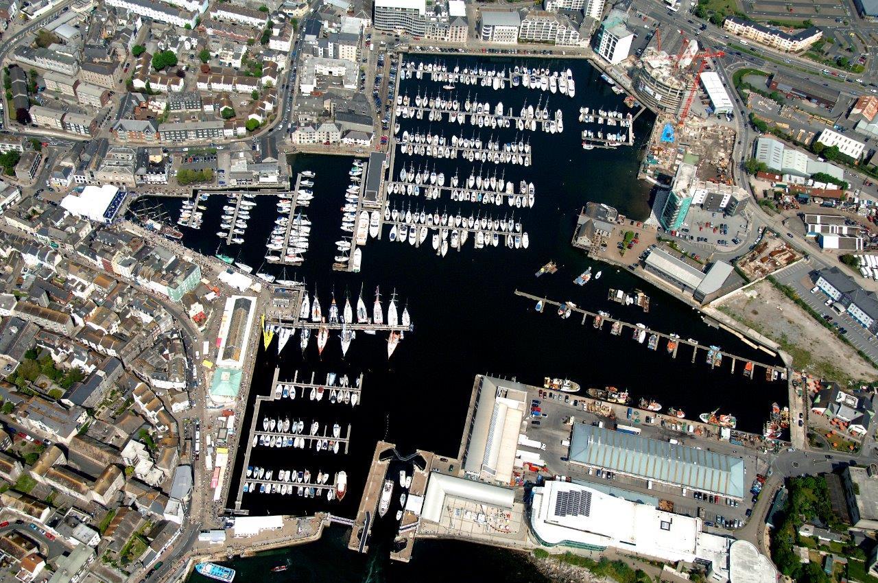 Sutton Harbour aerial