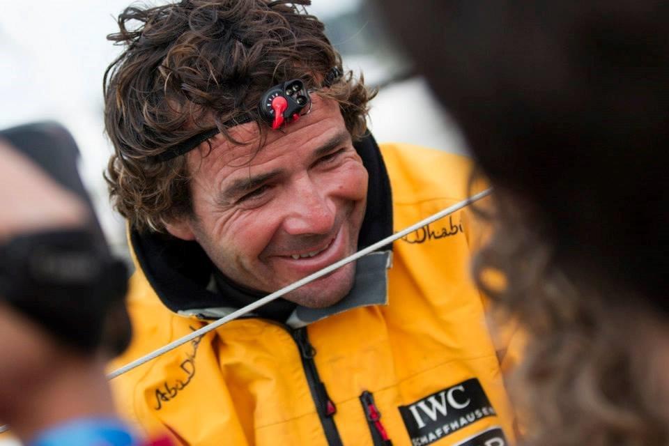Chuny sonriente a su llegada a Lorient © Ian Roman/Abu Dhabi Ocean Racing