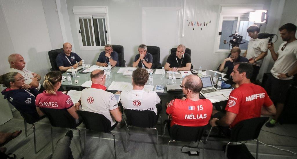 Reunión del jurado con los equipos en Lisboa © Carmen Hidalgo/Volvo Ocean Race