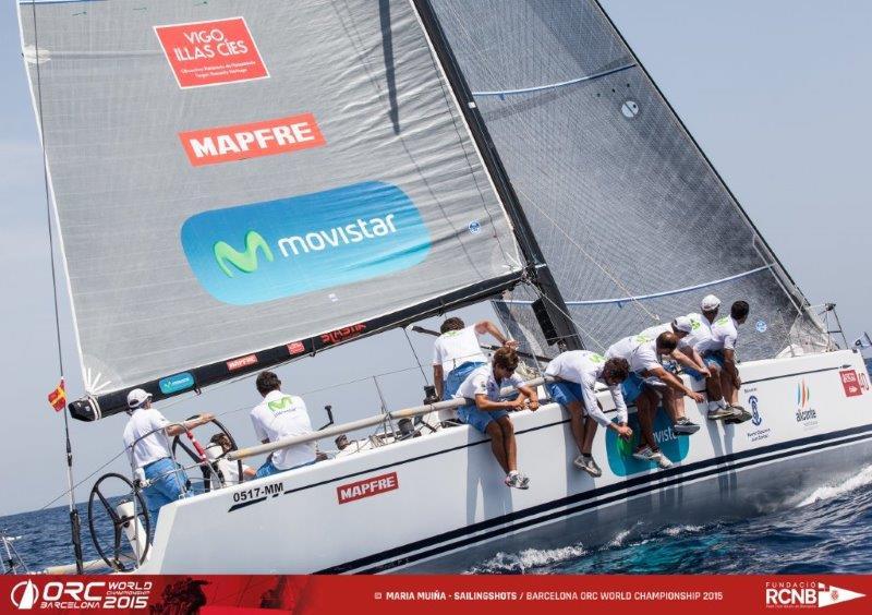 "El Swan 42 ""Movistar"" © María Muiña-SailingShots/Barcelona ORC World Championship"