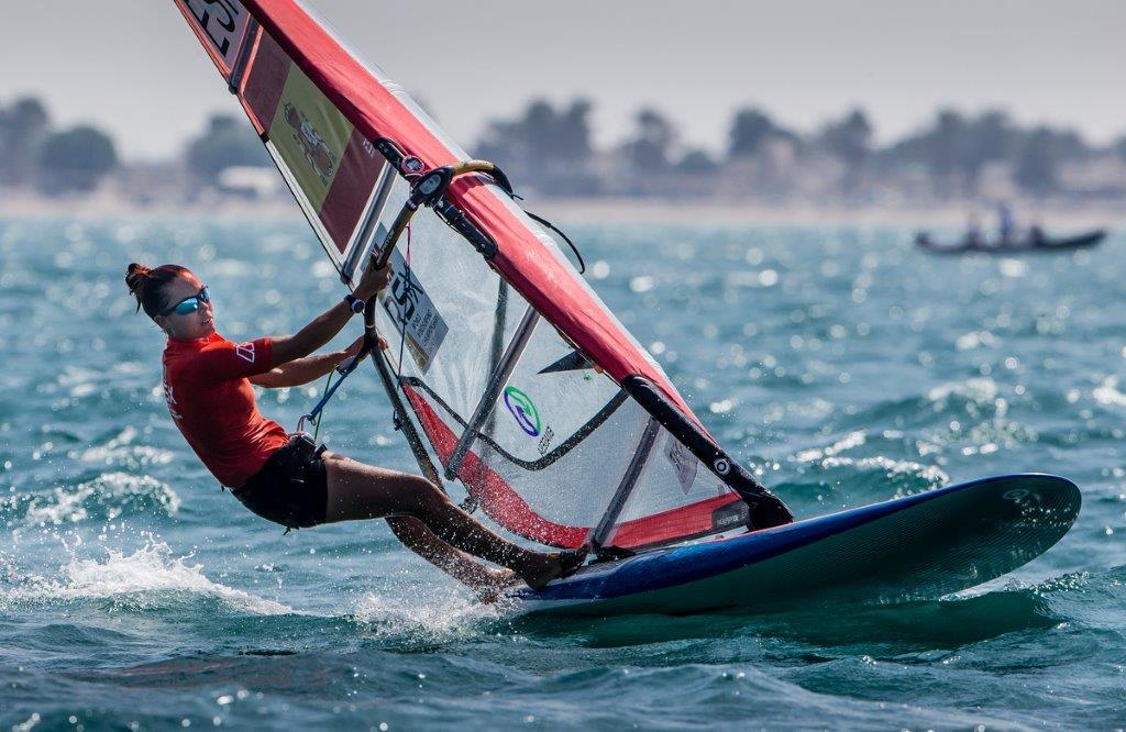Blanca Manchon durante una de las pruebas disputadas hoy en Omán © Jesús Renedo/Sailing Energy