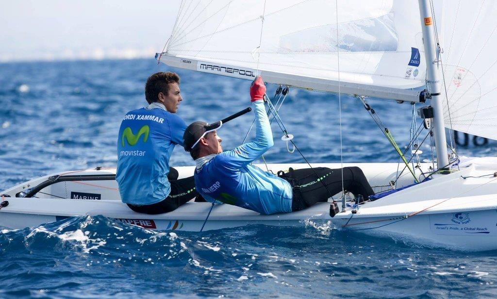 Jordi y Joan compitiendo en aguas de Haifa © Ronen Topelberg/Aquazoom