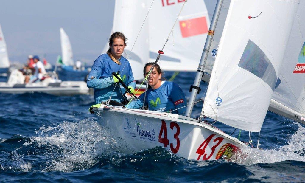 Silvia y Paula en el Mundial de 470 que se disputa en Israel © Ronen Topelberg/Aquazoom
