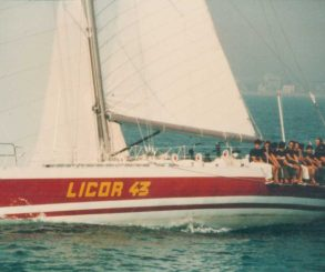 El LICOR 43 en la Whitbread Round the World Race.