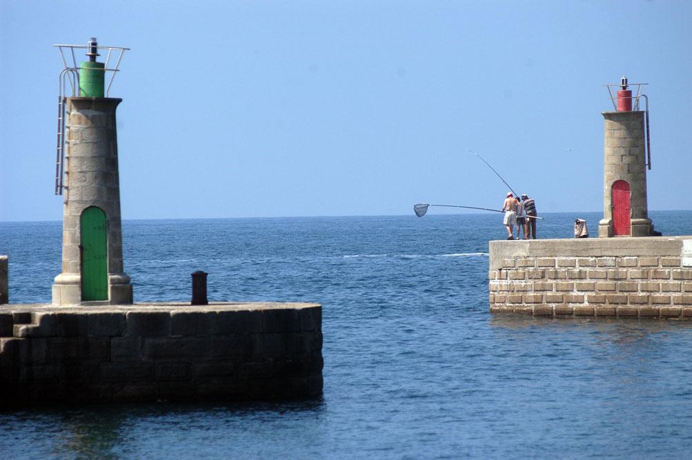 Balizas del puerto de Tapia de Casariego