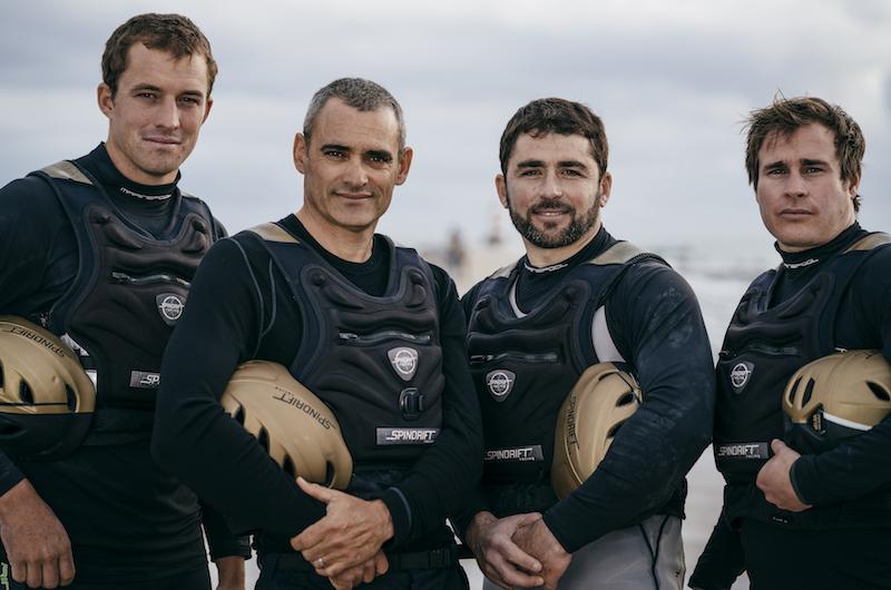 De izda. a dcha. Sam Goodchild, Yann Guichard,Christophe Espagnon, François Morvan © Chris Schmid / Spindrift racing