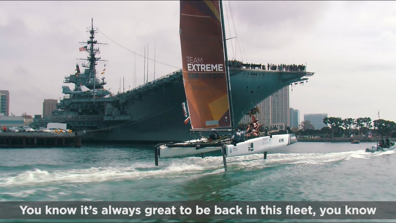 VIDEO: 2017 Extreme Sailing Series™ Act 7, San Diego: Day 1 highlights