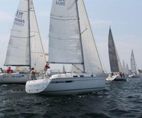 Los participantes de la Regata Gadis disfrutan de unas condiciones inmejorables para la navegación