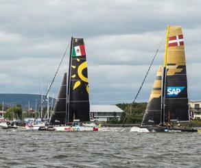 Alinghi arrebata el triunfo a los daneses en la final de Extreme Sailing Series™ en Cardiff