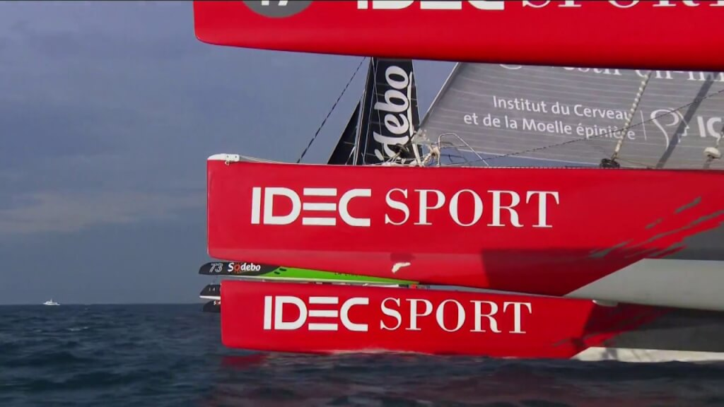 VIDEO: IDEC Sport en la salida de la Route du Rhum – Destination Guadeloupe
